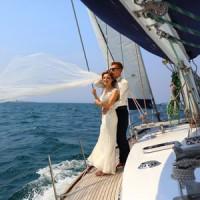 Eine Hochzeit auf See